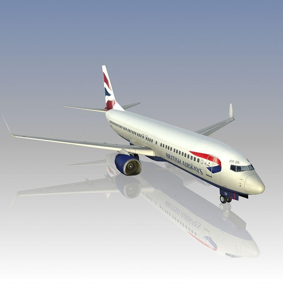 영국 항공 상업용 항공기 royalty-free 3d model - Preview no. 14
