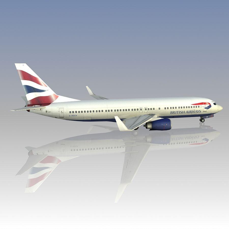 영국 항공 상업용 항공기 royalty-free 3d model - Preview no. 10