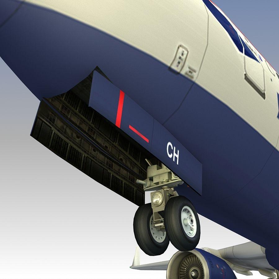 영국 항공 상업용 항공기 royalty-free 3d model - Preview no. 20