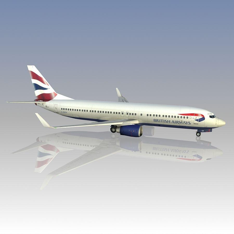 영국 항공 상업용 항공기 royalty-free 3d model - Preview no. 12