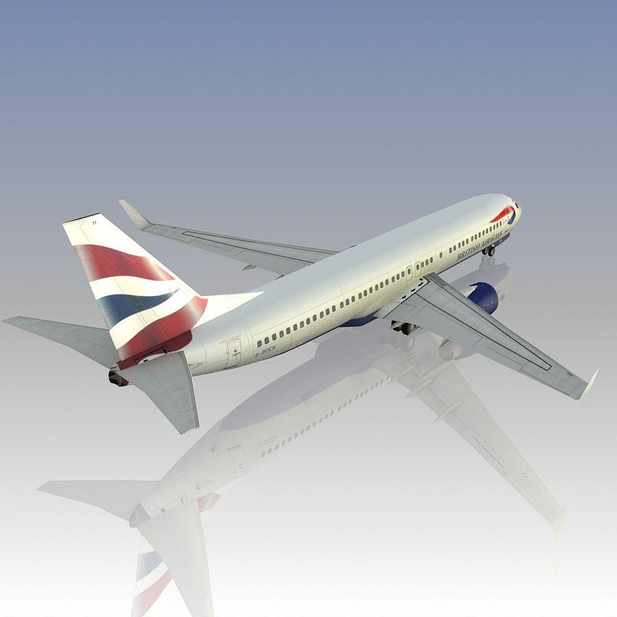영국 항공 상업용 항공기 royalty-free 3d model - Preview no. 9