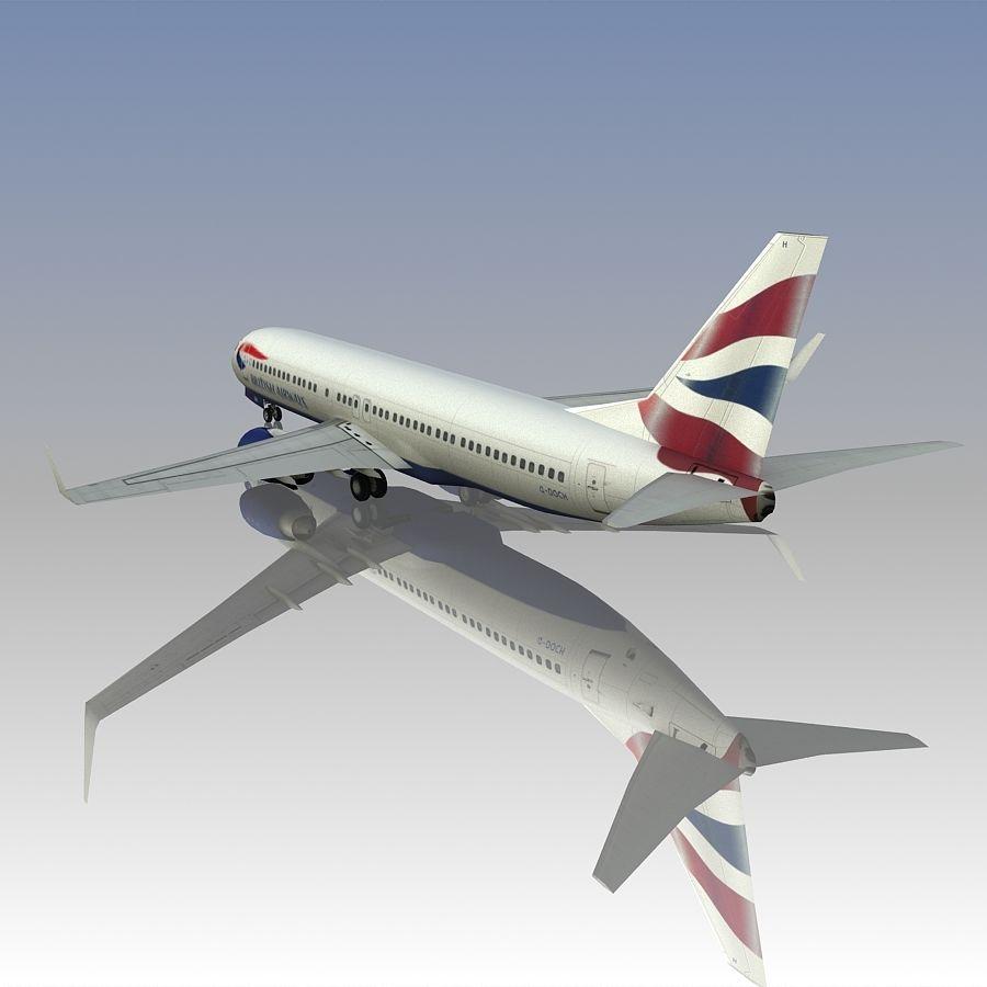 영국 항공 상업용 항공기 royalty-free 3d model - Preview no. 8