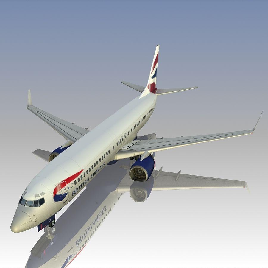 영국 항공 상업용 항공기 royalty-free 3d model - Preview no. 2