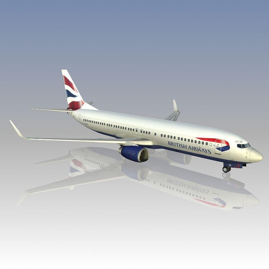 영국 항공 상업용 항공기 royalty-free 3d model - Preview no. 13