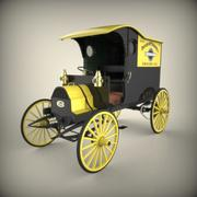 1908 Chase Highwheeler levering 3d model