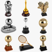 Sports Trophies Collection 3d model