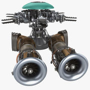 Helicopter Engine 4 modelo 3d