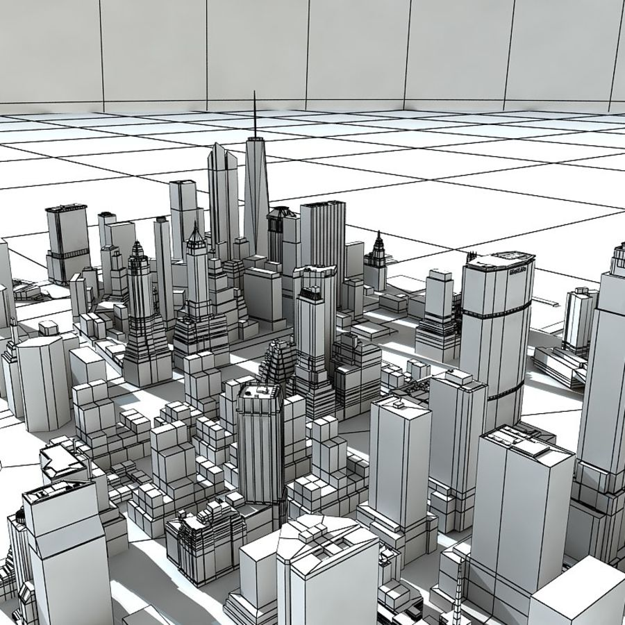 Manhattan Stylised royalty-free 3d model - Preview no. 8