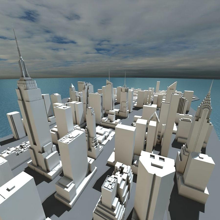 Manhattan Stylised royalty-free 3d model - Preview no. 5