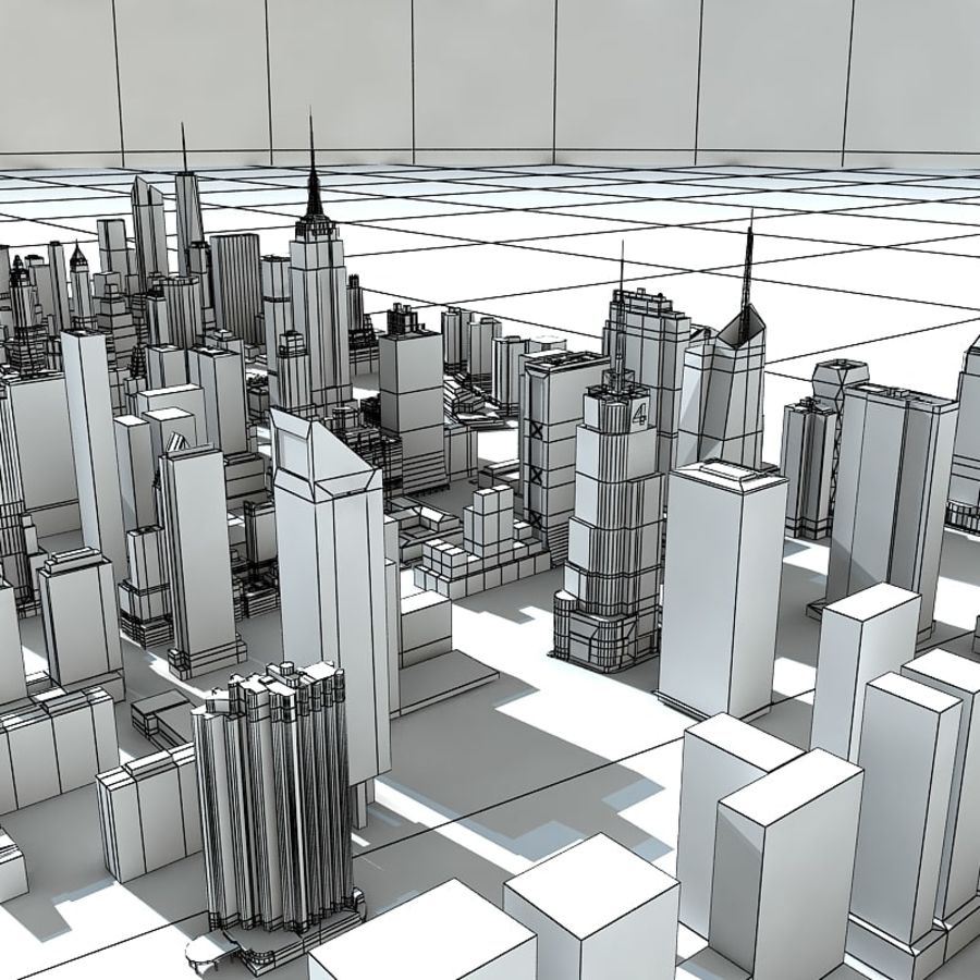 Manhattan Stylised royalty-free 3d model - Preview no. 7