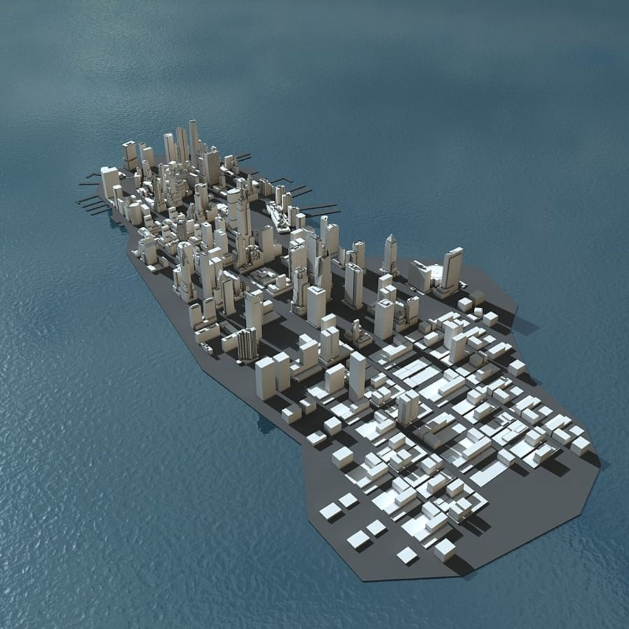 Manhattan Stylised royalty-free 3d model - Preview no. 6