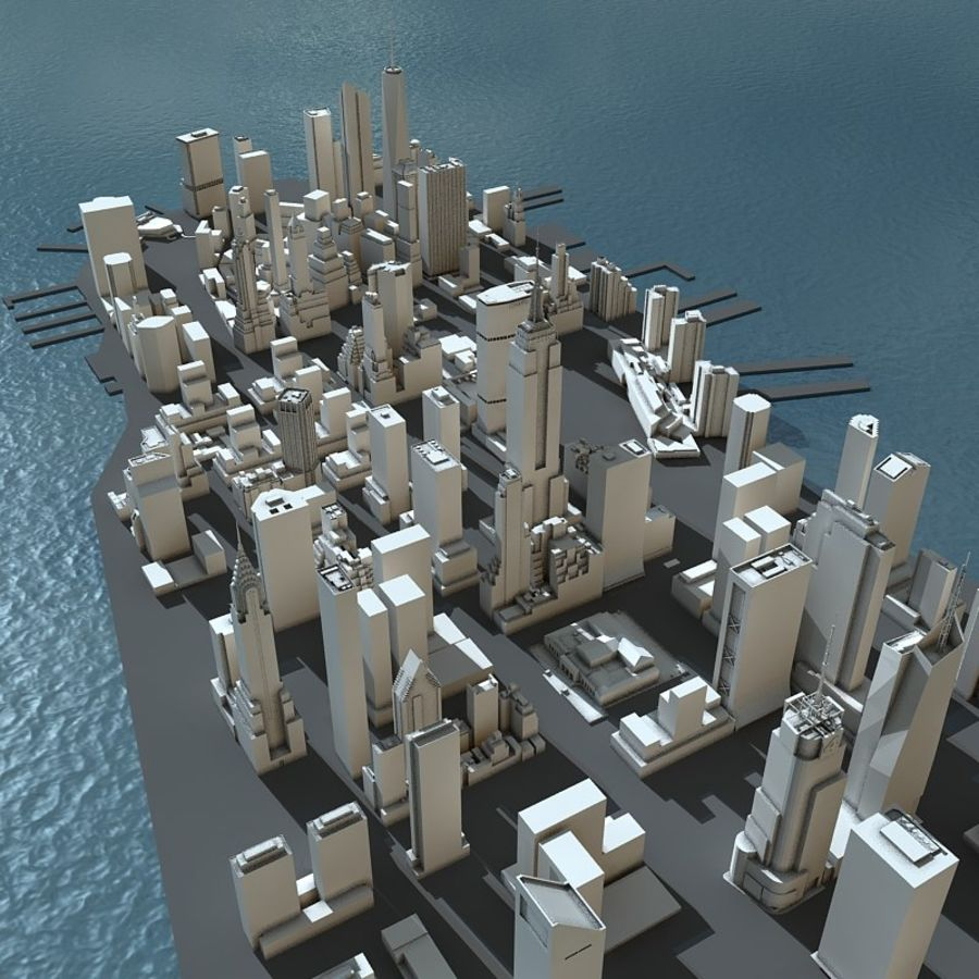 Manhattan Stylised royalty-free 3d model - Preview no. 1