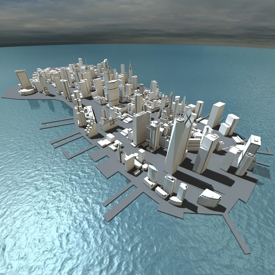 Manhattan Stylised royalty-free 3d model - Preview no. 3