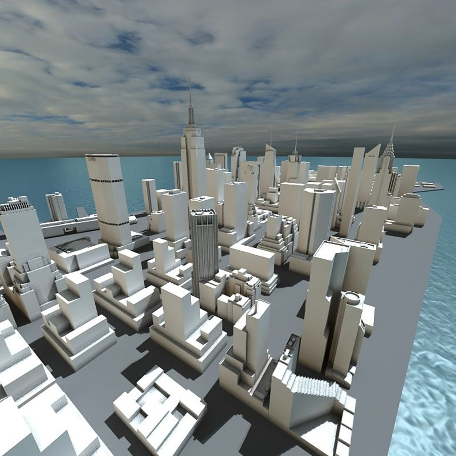 Manhattan Stylised royalty-free 3d model - Preview no. 4