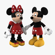 Famille Mickey Mouse 3d model