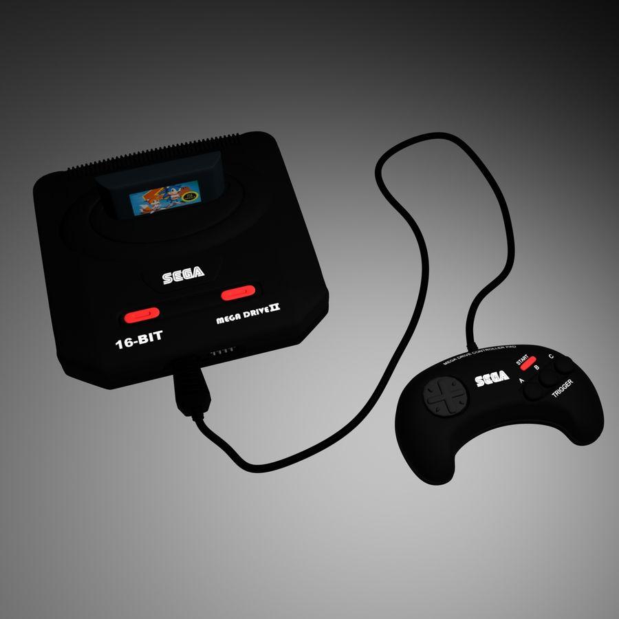 Sega Mega Drive royalty-free 3d model - Preview no. 3