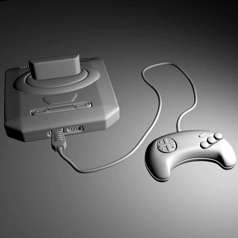 Sega Mega Drive royalty-free 3d model - Preview no. 8