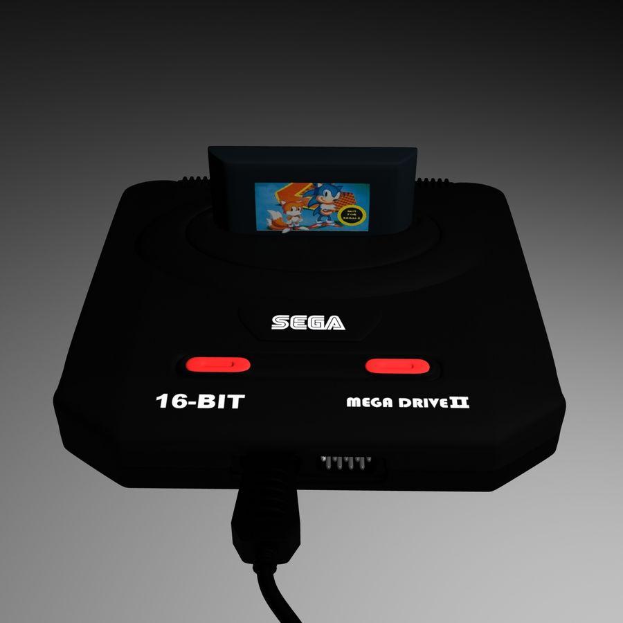 Sega Mega Drive royalty-free 3d model - Preview no. 6