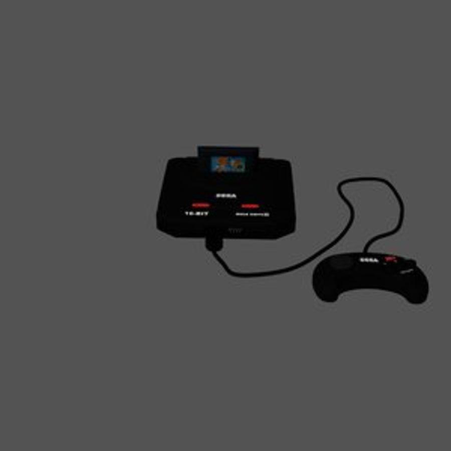 Sega Mega Drive royalty-free 3d model - Preview no. 1