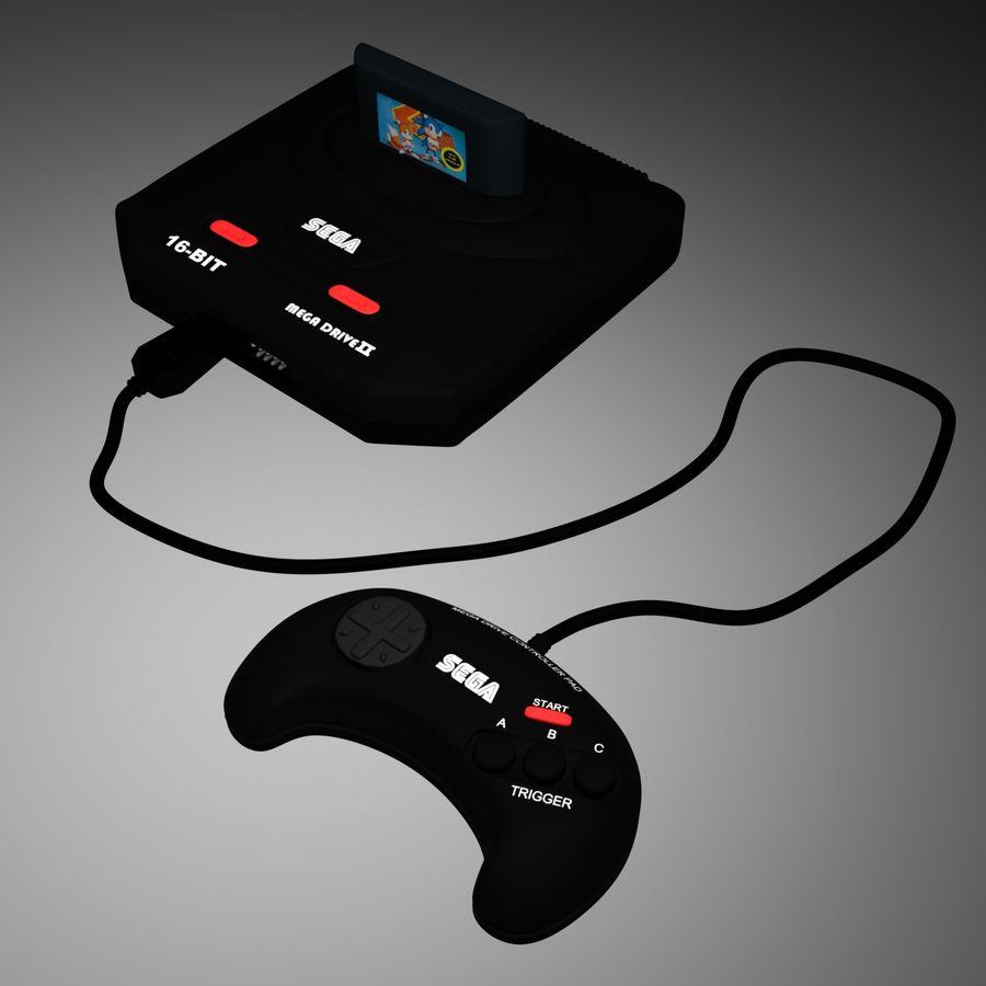 Sega Mega Drive royalty-free 3d model - Preview no. 4