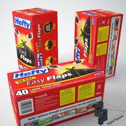 무거운 쓰레기 봉투 3d model