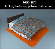 담요, 침대 시트, 베개 및 카펫 침대 3d model