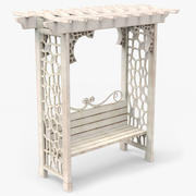 Garden Arbor Bench 3d model