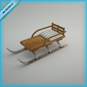 Sit ile kar kızak 3d model