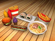 Fast Food Paketleri 3d model