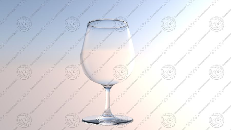 Wine Glass royalty-free 3d model - Preview no. 5
