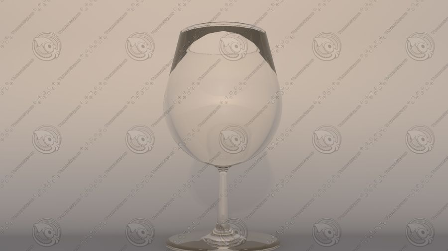 Copo de vinho royalty-free 3d model - Preview no. 1