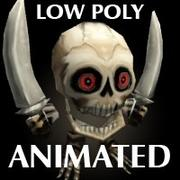 mini Skeleton Low Poly Animated 3d model
