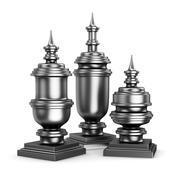 Metalen figuren 3d model