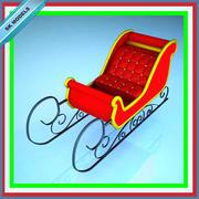 Noel Baba kızağa süslü oturmak 3d model