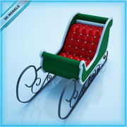 Noel Baba Kızağı 3d model