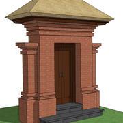 portão de Bali 3d model