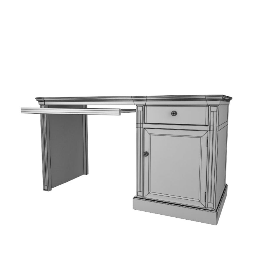 furniture 7 computer desk royalty-free 3d model - Preview no. 7