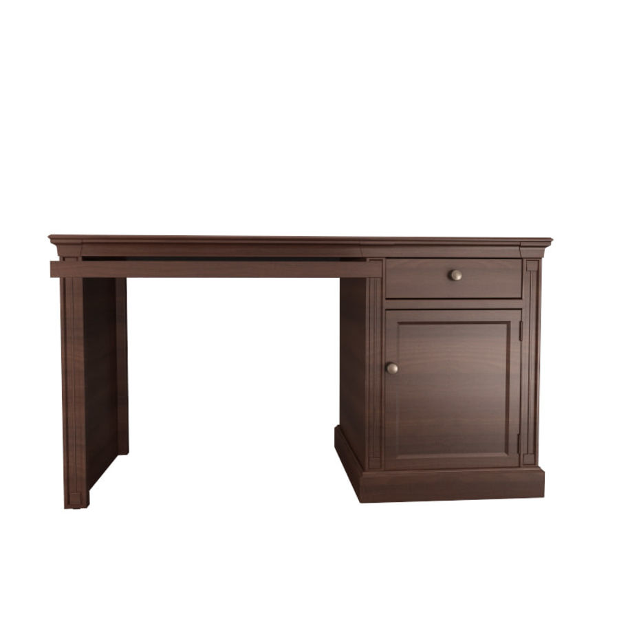 furniture 7 computer desk royalty-free 3d model - Preview no. 3