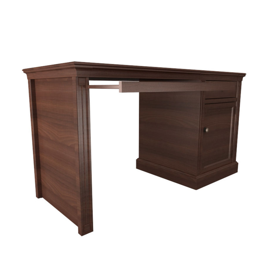 furniture 7 computer desk royalty-free 3d model - Preview no. 2
