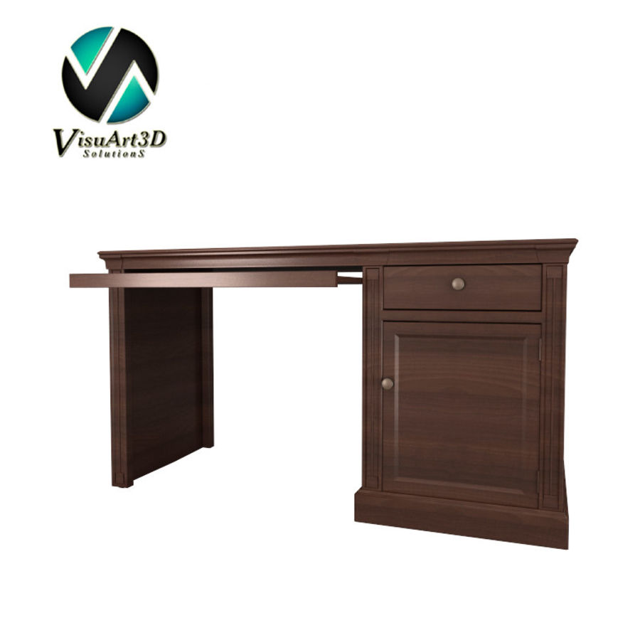 furniture 7 computer desk royalty-free 3d model - Preview no. 1