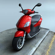Scooter laag poly 3d model