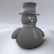 Muñeco de nieve y nieve procesal modelo 3d