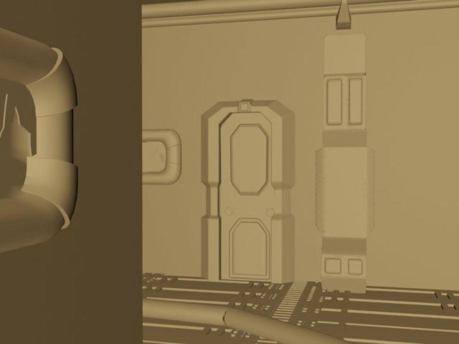 ambiente di fantascienza royalty-free 3d model - Preview no. 3