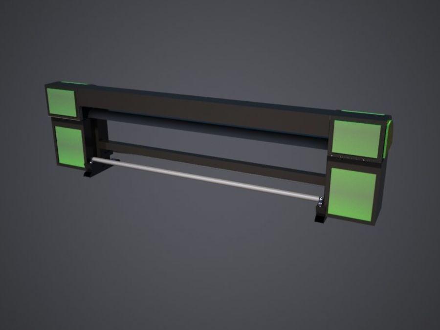 Drukarka royalty-free 3d model - Preview no. 5