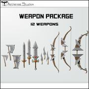 판타지 무기 패키지 3d model
