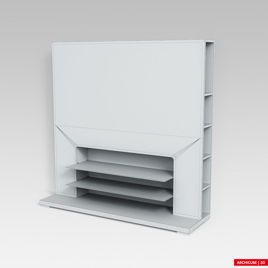 Furniture for TV royalty-free 3d model - Preview no. 8