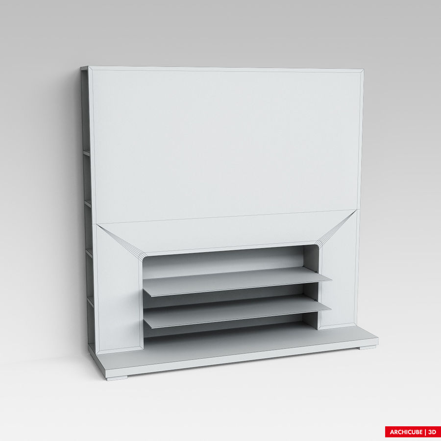 Furniture for TV royalty-free 3d model - Preview no. 6