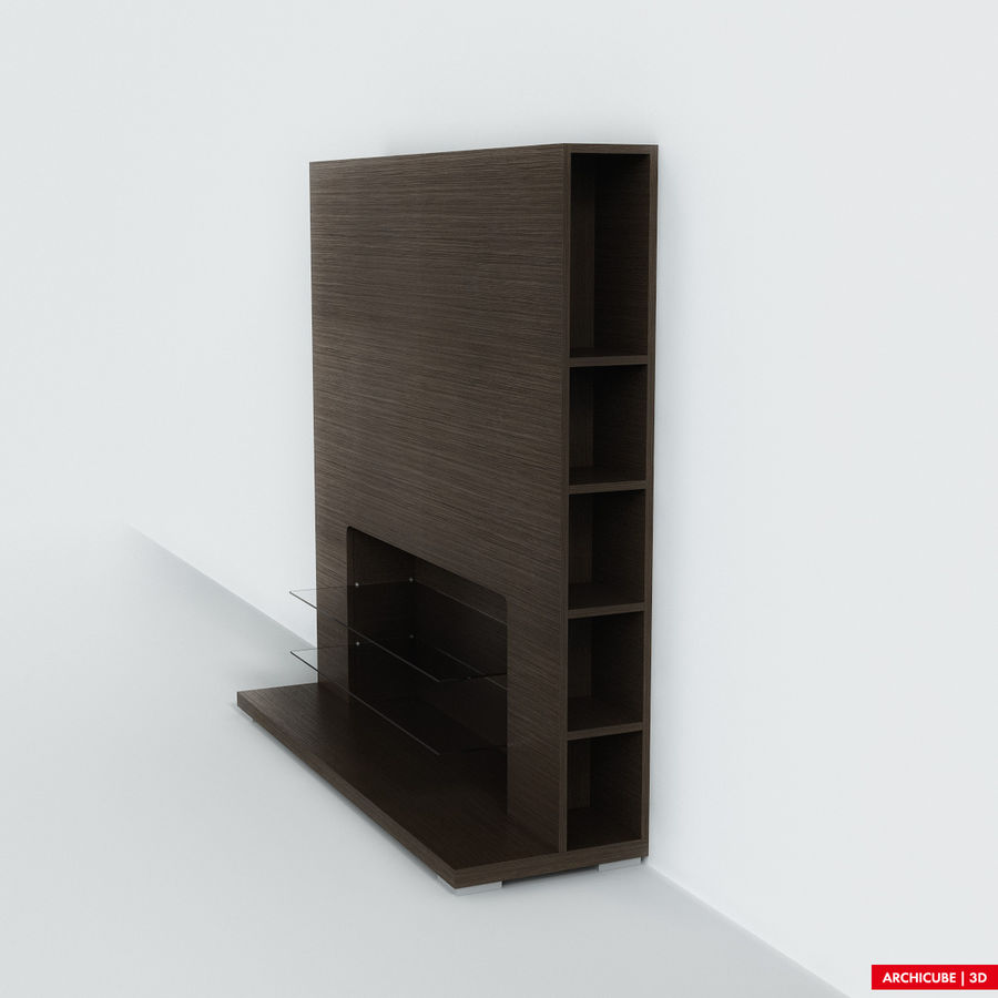 Furniture for TV royalty-free 3d model - Preview no. 4
