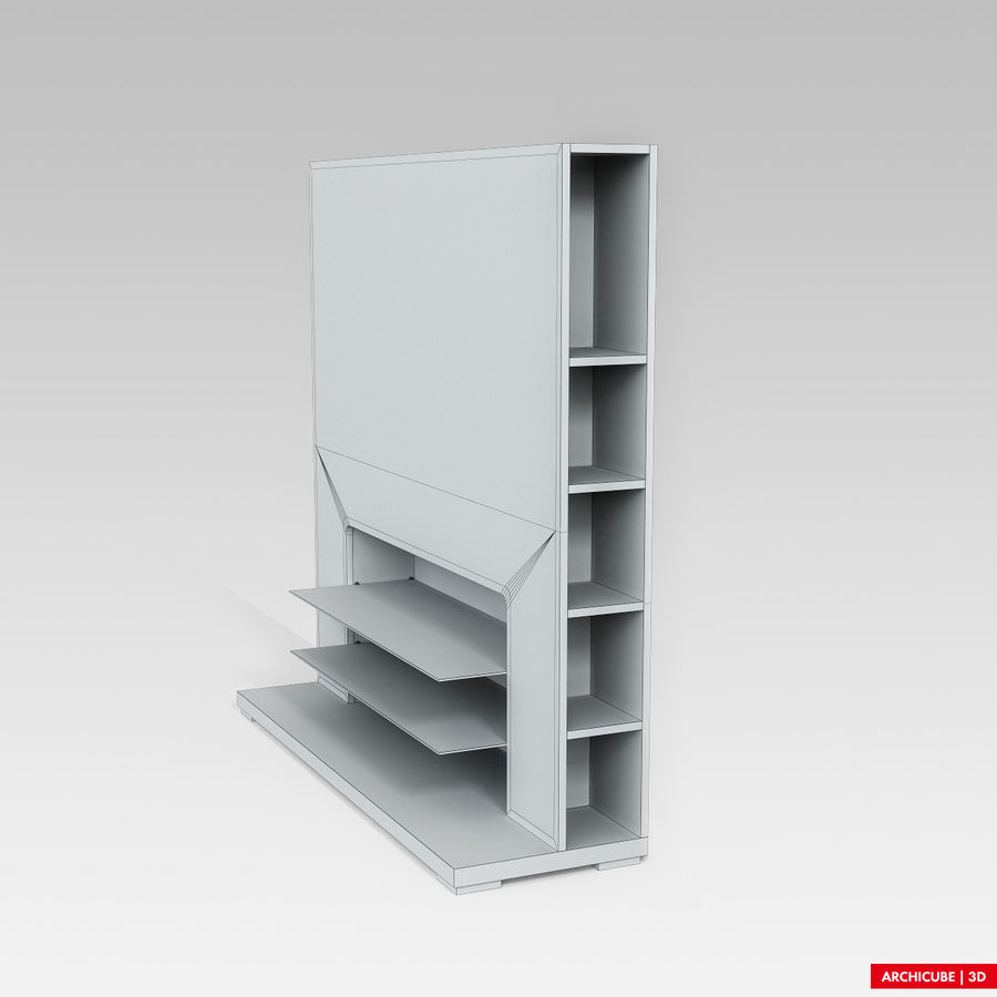 Furniture for TV royalty-free 3d model - Preview no. 9
