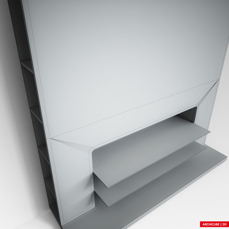 Furniture for TV royalty-free 3d model - Preview no. 10